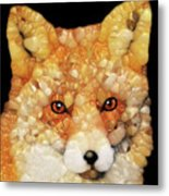 Red Fox Abstract Metal Print