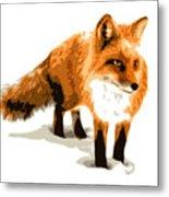 Red Fox In Winter Metal Print by DB Artist