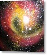 Red Galaxy Metal Print