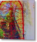 Red Gate Metal Print