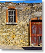 Red Gate, Stone Wall Metal Print