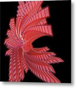 Red Glass Abstract Metal Print
