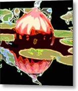 Red Glass Design Metal Print