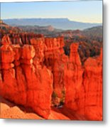 Red Glow In Bryce Canyon Metal Print