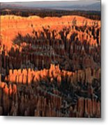 Red Glow Of The Sunrise In Bryce Canyon Metal Print