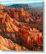 Red Glow On The Hoodoos Of Bryce Canyon Metal Print