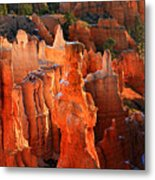 Red Glow On Thor's Hammer In Bryce Canyon Metal Print