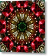 Red Gold Green Kaleidoscope 1 Metal Print