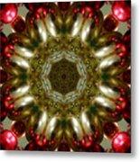 Red Gold Kaleidoscope 1 Metal Print