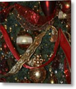 Red Gold Tree No 1 Fashions For Evergreens Event Hotel Roanoke 2009 Metal Print