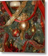 Red Gold Tree No 2 Fashions For Evergreens Event Hotel Roanoke 2009 Metal Print