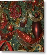 Red Gold Tree No 3 Fashions For Evergreens Event Hotel Roanoke 2009 Metal Print