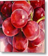 Red Grape Reflections Metal Print