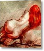 Red Metal Print by Gun Legler