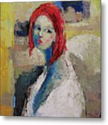 Red Haired Girl Metal Print