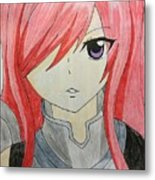 Red Haired  Metal Print