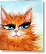 Red-haired Sofia The Cat Metal Print