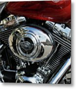 Red Harley Metal Print