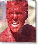 Red Head Metal Print