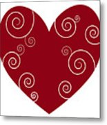Red Heart Metal Print