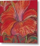 Red Hibiscus #1 Metal Print