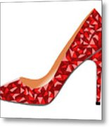 Red High Heel Shoe Metal Print