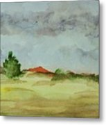 Red Hill Landscape Metal Print