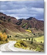 Red Hills Autumn Color Metal Print