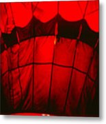 Red Hot Air Balloon Metal Print