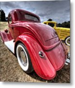 Red Hot Rod - 1930s Ford Coupe Metal Print