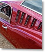 Red Hot Vents - Classic Fastback Mustang Metal Print