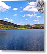 Red House Lake Allegany State Park Expressionistic Effect Metal Print