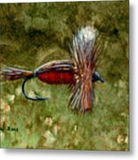 Red Humpy Metal Print
