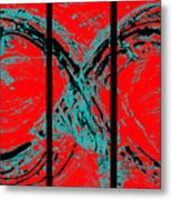 Red Infinity Modern Painting Abstract By Robert R Splashy Art Metal Print by Robert R Splashy Art
