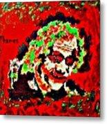 Red Joker Metal Print