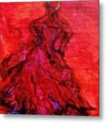 Red Lady Metal Print