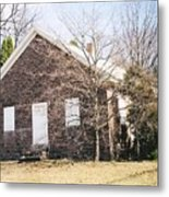 Red Land Quaker House Metal Print by Darlene Prowell