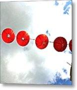 Red Lanterns In Chinatown Metal Print