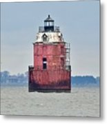 Red Lighthouse At The Sandy Point State Park Metal Print