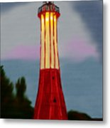 Red Lighthouse Metal Print