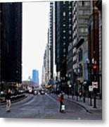 Red Lights - City Of Chicago Metal Print