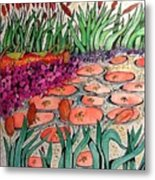 Red Lillies 2 Metal Print