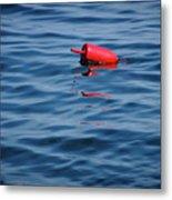 Red Lobster Buoy Metal Print