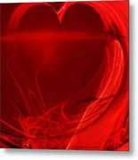 Red Love . A120423.279 Metal Print by Wingsdomain Art and Photography