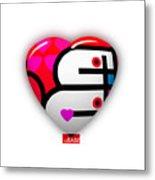 Red Love Heart Metal Print