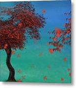 Red Maples Metal Print