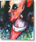 Red Mohican  Metal Print