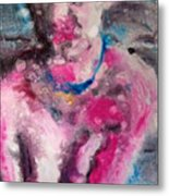 red Molly Metal Print