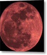 Red Moon Metal Print
