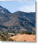 Red Mountain And Pikes Peak Metal Print